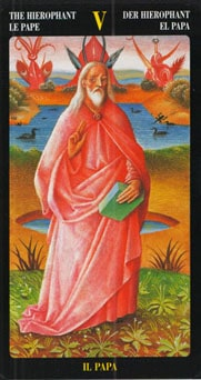 Le tarot Bosch: carte le pape