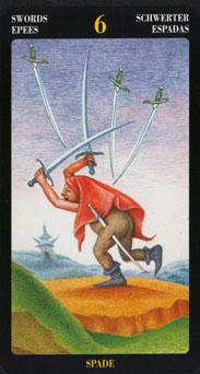 Le tarot Bosch: carte 6 d'épée