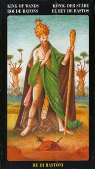Le tarot Bosch: carte le roi de bâtons