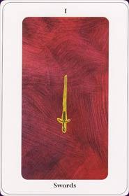 Le tarot de la destinée: carte l'as d'épée
