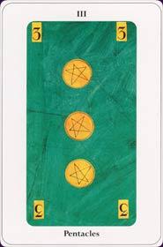 Le tarot de la destinée: carte le trois des deniers