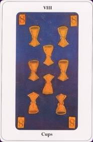 Le tarot de la destinée: carte le huit de coupe