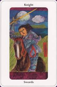 Le tarot de la destinée: carte le cavalier d'épée