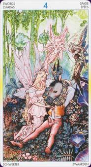 Tarot of metamorphosis: carte le 4 d'épées