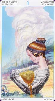 Tarot of metamorphosis: carte l'as des coupes