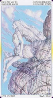 Tarot of metamorphosis: carte chevalier de batons
