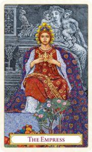 Tarot of Prague: carte l'impératrice