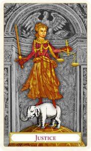 Tarot of Prague: carte la justice