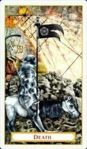 Tarot of Prague: carte la mort