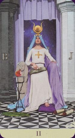 Le vice-versa tarot: carte la papesse