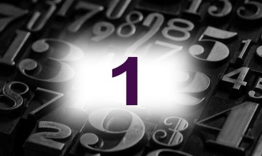 Numérologie nombre 1 signification