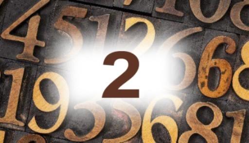 Numérologie nombre 2 signification