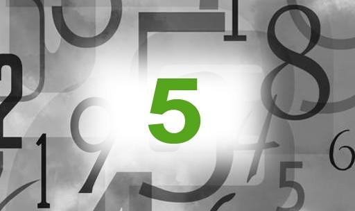Numérologie nombre 5 signification: