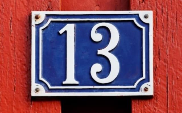 Nombre 13 et Superstitions