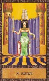 Tarot des anciens égyptiens - Carte la justice