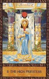 Tarot des anciens égyptiens - Carte la prêtresse