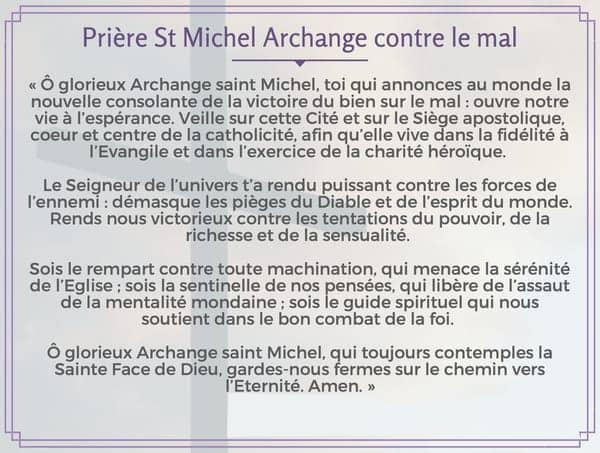 Prière à St Michel Archange contre le mal