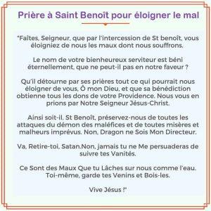 Prière à Saint Benoît pour se défaire du négatif
