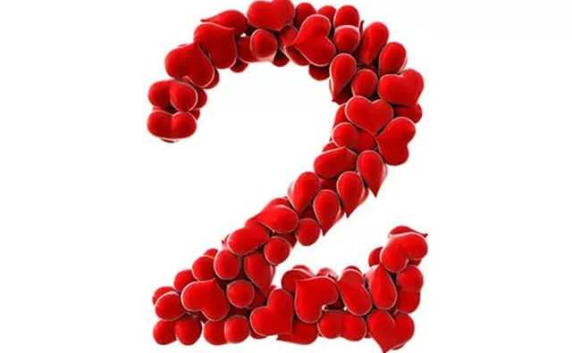 Numérologie et le chiffre 2 en amour
