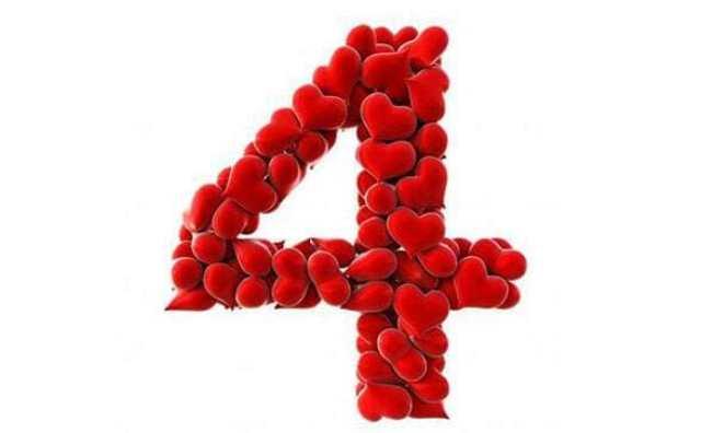 Numérologie et le chiffre 4 en amour