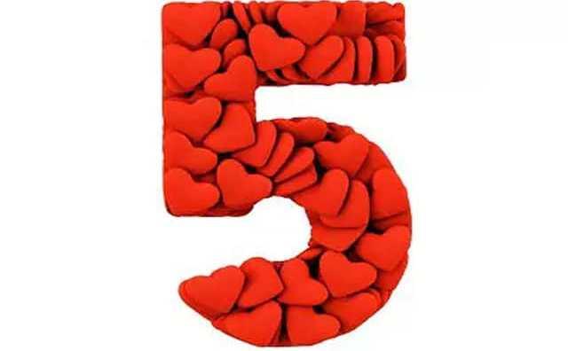 Numérologie et le chiffre 5 en amour