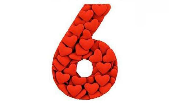 Numérologie et le chiffre 6 en amour