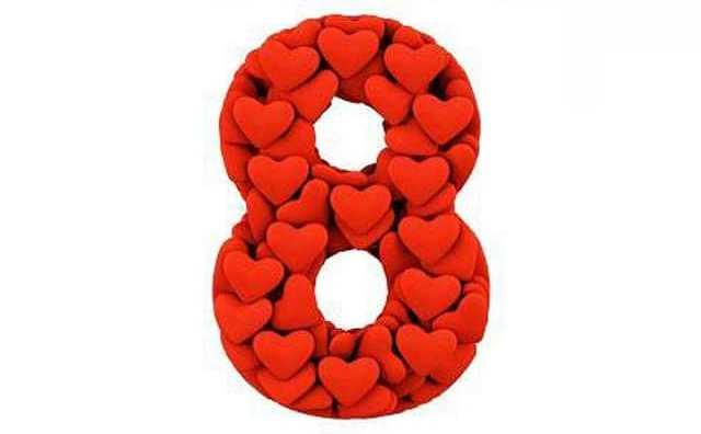Numérologie et le chiffre 8 en amour