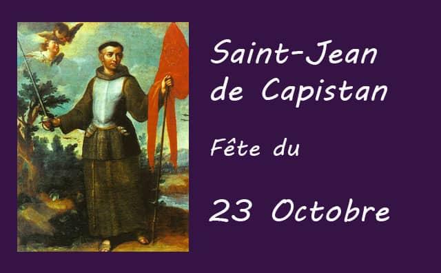 23 octobre : Saint Jean de Capistan