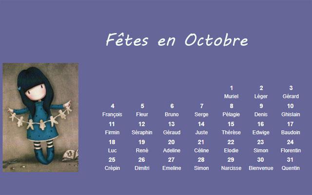Les fêtes à souhaiter en octobre