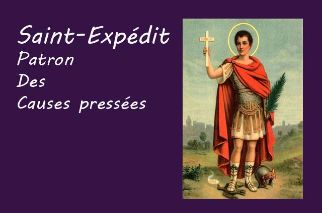 Prière à Saint Expédit pour résoudre les causes pressantes
